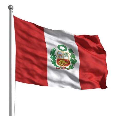 territorial: Flag of Peru (Isolated) Stock Photo