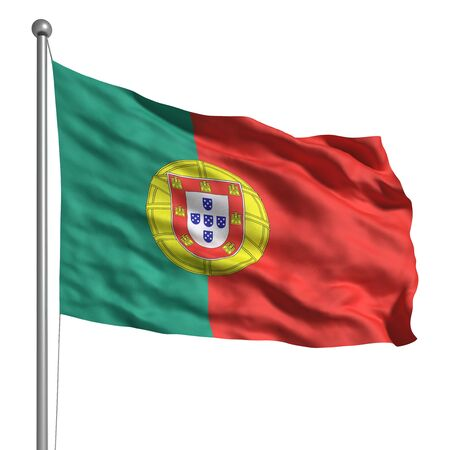 Flag of Portugal (Isolated) photo