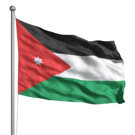 Flagge von Jordanien (Isoliert)