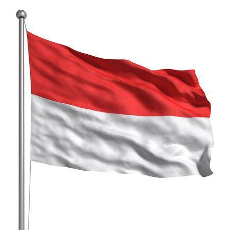 Flag of Monaco (Isolated)