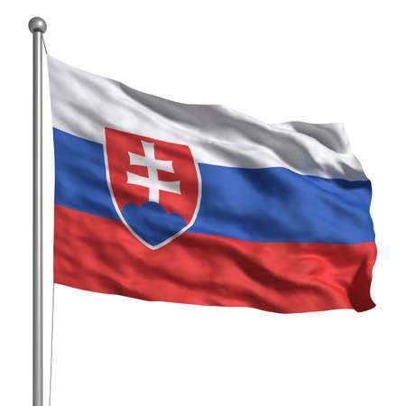 Flag of Slovakia (Isolated) photo