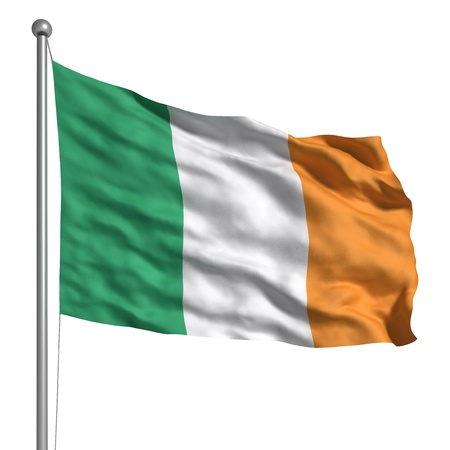 Flag of Ireland (Isolated) Banque d'images