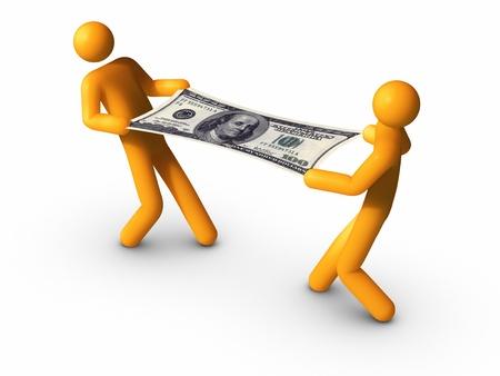 TIrer le dollar - 100 $. Banque d'images - 9805199