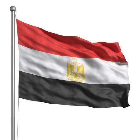 flag of egypt: Bandera de Egipto (aislado) Foto de archivo