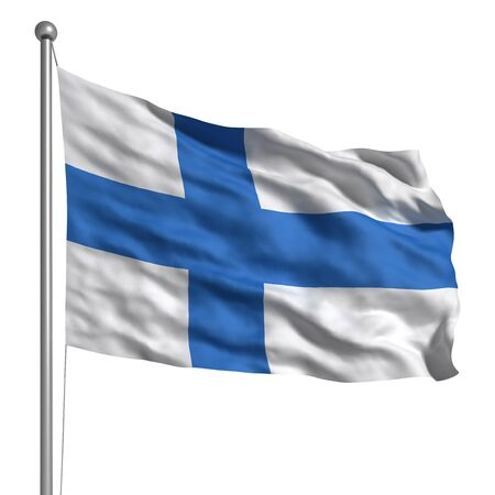 finland flag: Flag of Finland (Isolated)