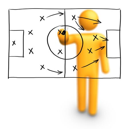 scoring: Soccer Strategy Stock Photo