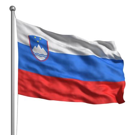 slovenia: Flag of Slovenia Stock Photo
