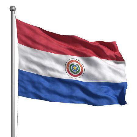 bandera de paraguay: Bandera de Paraguay Foto de archivo