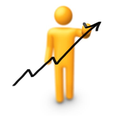 Stick Figure Drawing Graph. Stock Photo - 9942435