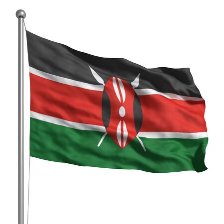 Flag of Kenya (Isolated) Stock Photo