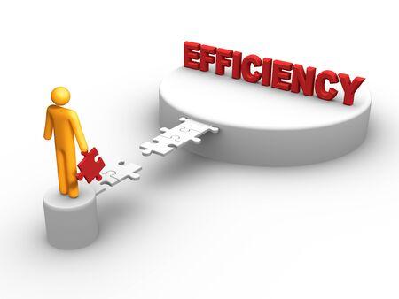 Bridge to the Efficiency Stock Photo