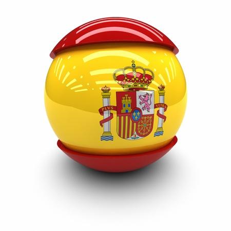 flag spain: 3D  - Flag of Spain Stock Photo