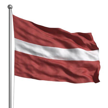 Drapeau de la Lettonie (isolé)