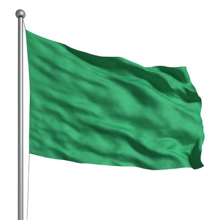 libya: Flag of Libya (Isolated) Stock Photo