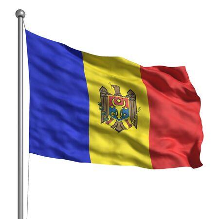 moldova: Flag of Moldova (Isolated)