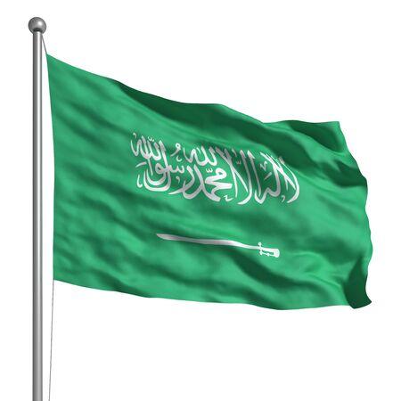 saudi arabia: Flag of Saudi Arabia (Isolated)