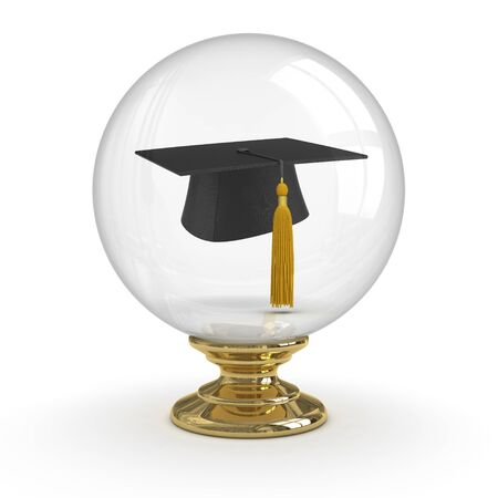 Fortune Teller - Graduation. clipping path included. Stock Photo - 9942924