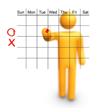 Stick Figure planning. You can fill it which month you want. photo