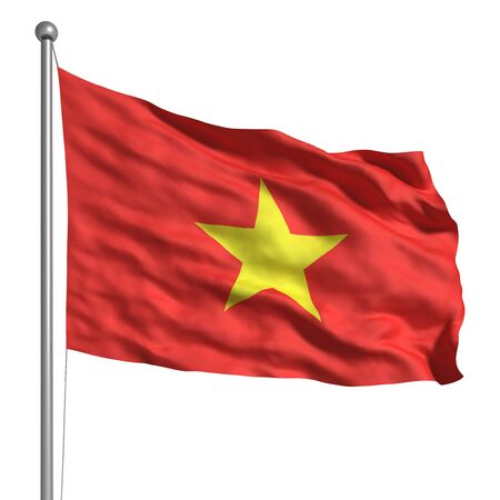 Flag of Vietnam Stock Photo