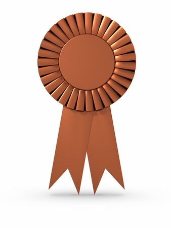 Bronze ribbonAward. Clipping path included. photo