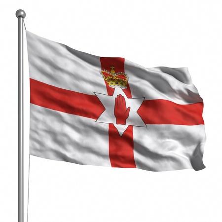bandera de irlanda: Bandera de Irlanda del Norte. Dictada con la textura de la tela