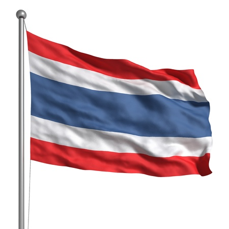 Flag of Thailand (Isolated) Stock Photo - 9943033