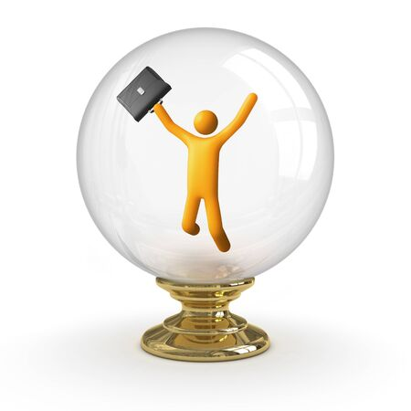 Crystal ball - Business Success. clipping path included. photo