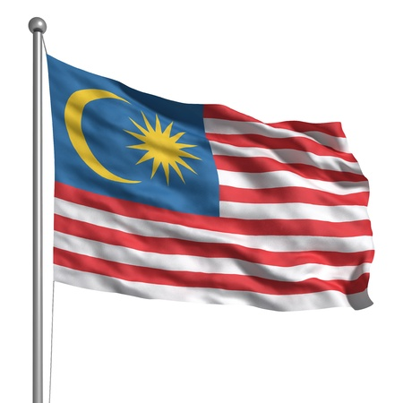 Flag of Malaysia Stock Photo - 9943068