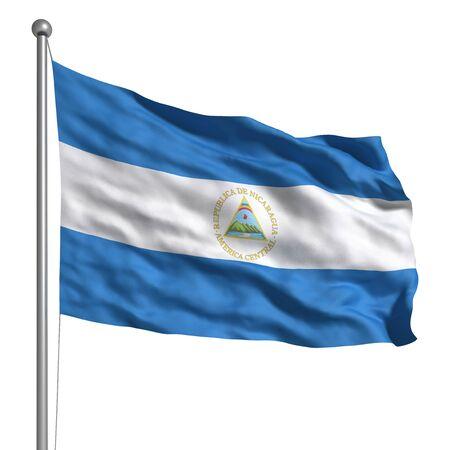 Bandera de Nicaragua Foto de archivo - 9943072