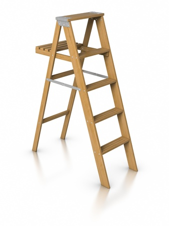3D Step ladder. Stock Photo - 9943052