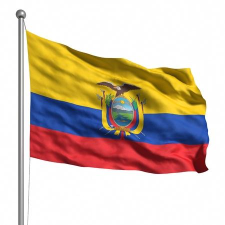 ecuador: Flag of Ecuador. Rendered with fabric texture