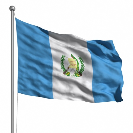 Flag of Guatemala. Rendered with fabric texture