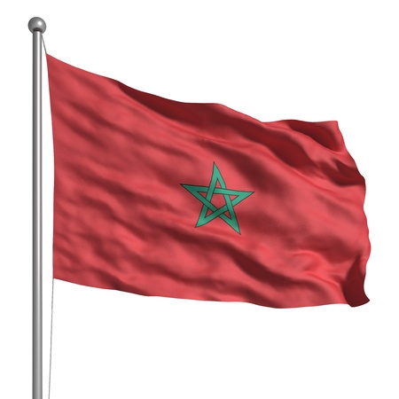 Flag of Morocco (Isolated)