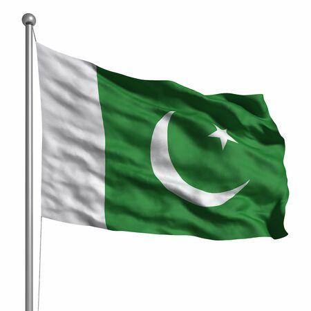 pakistani pakistan: Flag of Pakistan. Rendered with fabric texture