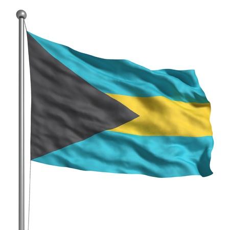 bahamas: Flag of the Bahamas (Isolated)