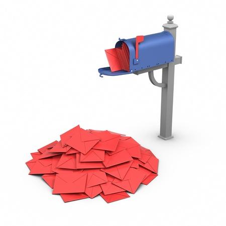 Full Mailbox. Stock Photo - 9943122