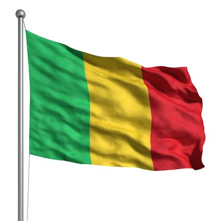 Flag of Mali. Rendered with fabric texture  photo