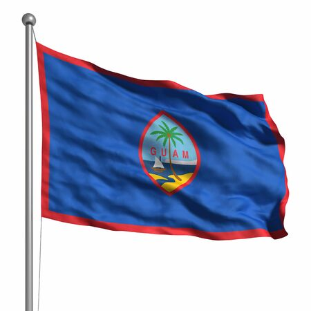 guam: Flag of Guam. Rendered with fabric texture