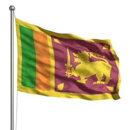 Flag of Sri Lanka (Isolated) Stock Photo - 9944228