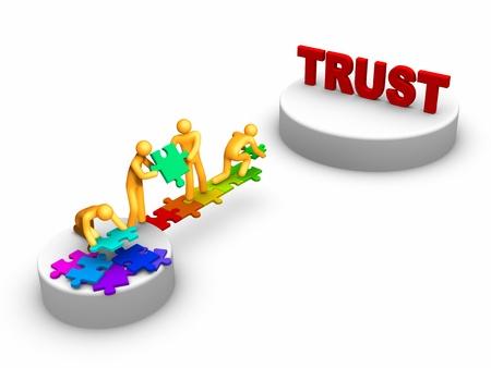 Teamarbeit für Trust