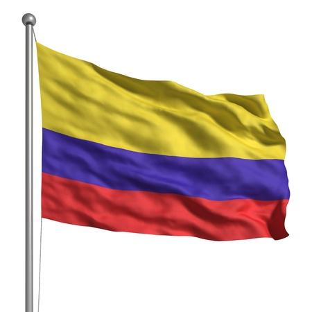 Flagge von Kolumbien (isoliert) Standard-Bild