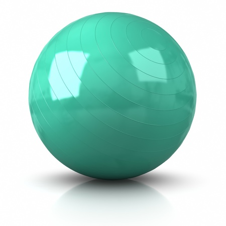 3D Fitness Ball. Clipping path included. Stock Photo
