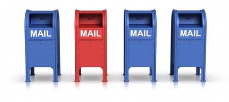 Row of Mailbox. Stock Photo - 9943199