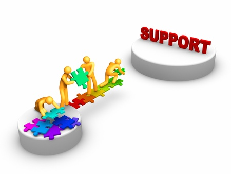 support team: Team work for Support