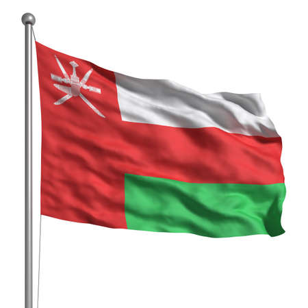 Oman: Flag of Oman (Isolated)