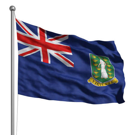 Flag of British Virgin Islands. Rendered with fabric texture  photo