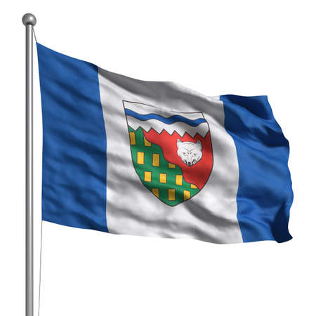 Flag of The Northwest Territories. Rendered with fabric texture Stock Photo - 9942361