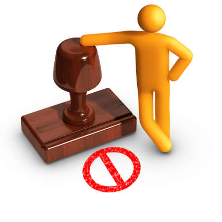rejection: Rejection. No ! Stock Photo