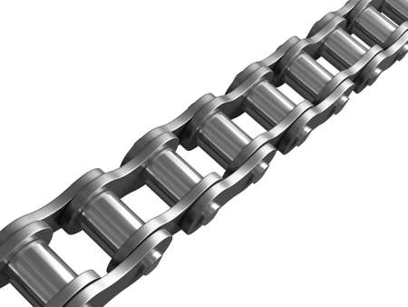 Bicyle chain with. Stock Photo