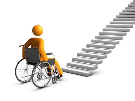 sillas de ruedas: Silla de ruedas 3D concepto. Foto de archivo